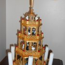 Lillian Vernon Exclusive 575W Wooden Nativity Carousel 4 Four Tier with Candles Holiday Christmas