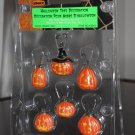 Halloween Tree Decoration Set of 6 Lemax 42843 Jack-o-Lantern Pumpkin Spooky Town Collection 2004