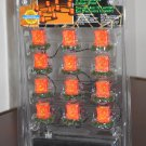 12 Lighted Pumpkin Luminary String Lemax 24761 Spooky Town Collection Battery Operated 2002