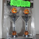 Jack-o-Lantern Pumpkin Lamp Post Set of 2 Lemax 34622 Spooky Town Collection Battery Operated 2013