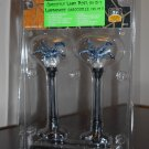 Gargoyle Lamp Post Set of 2 Lemax 54314 Spooky Town Collection Battery Operated 2005 Halloween