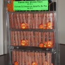 Pumpkin Wire Wooden Fence Set of 3 Brown Lemax 44134 Spooky Town Collection 2004 Halloween