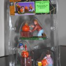 Pumpkin Carvers Set of 3 Lemax 52009 Spooky Town Collection 2005 Halloween