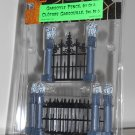 Gargoyle Fence Set of 5 Lemax 44139 Spooky Town Collection Battery Operated 2004 Halloween