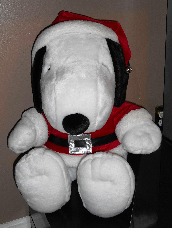 Hallmark Peanuts Gang Jingle Bell 24 Inch Santa Snoopy Plush Tall