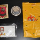 McDonald's Vintage Items Lot Ronald Letterland Stationery Ashtray Rockwell Ornament Vinyl Bag