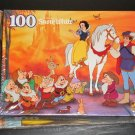 Snow White and Seven Dwarfs 100 Piece Jigsaw Puzzle with Coloring Activity Book NIP Disney