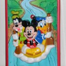 Walt Disney 3D River Raft Switch Plate Cover Light Wall Mickey Mouse Donald Duck Goofy