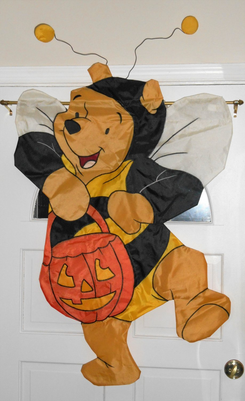winnie the pooh bumblebee bumble bee bear costume halloween decorative garden flag applique disney - Bee Halloween