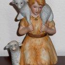 Shepherd Boy Lambs Porcelain Figurine Homco 5603 Nativity Scene Replacement Home Interiors Christmas