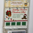 Lemax Village 64496 Holiday Treasures Billboard Lighted Accessory 4.5v 2006 NIP