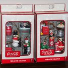 Coca-Cola Trim-A-Tree Mini Ornaments 10 Different Coke Christmas Santa Penguin Polar Bear NIB