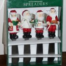 Boston Warehouse Santa Claus Chef Spreaders Set of 4 Stainless Steel Knives 12-154 1995