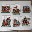 The Christmas Cat Express Train Danbury Mint 2004 Gary Patterson Resin Figurines 6 Cars