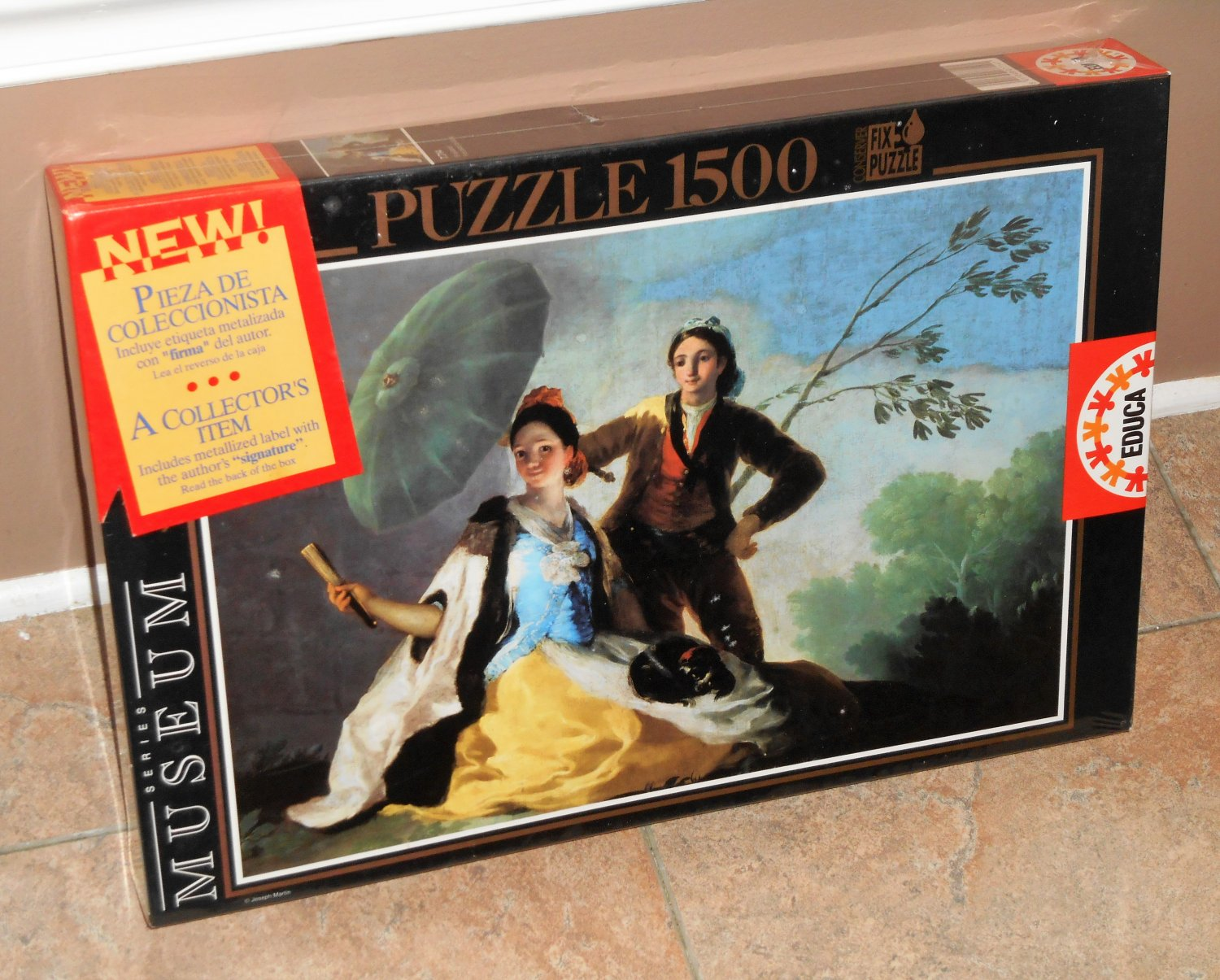El Quitasol The Parasol 1500 Piece Jigsaw Puzzle 7714 Educa Museum Series Francisco de Goya NIB
