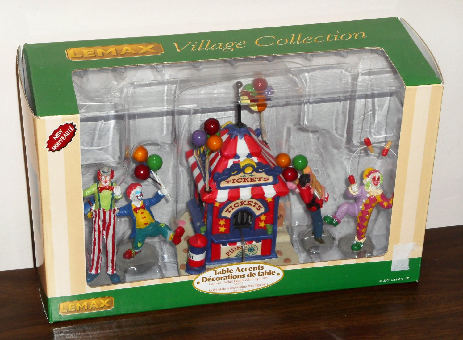 Carnival Ticket Booth Lemax Circus Village Collection 63563 Table Accent Polyresin Figurines 2006