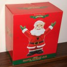 Santa Claus Holiday Splendor Ceramic Cookie Jar Shiny Brite Christopher Radko Presents NIB