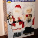 "Special Times 24"" Mr Mrs Santa Claus Lighted Animated Victorian Costumes Christmas AC Power Adaptor"