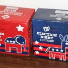 Elephant Donkey Washington Nationals Political Mascot Figurine Set Democrat Republican NIB