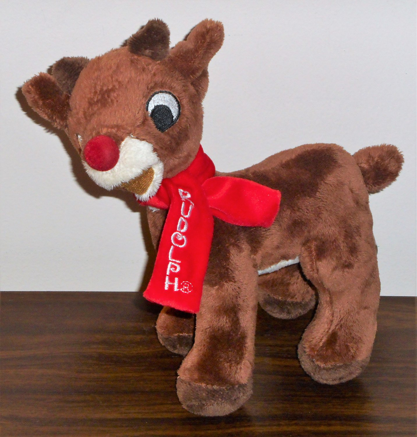 Rudolph the Red Nosed Reindeer  with Scarf 8 Inch Plush DanDee 2010