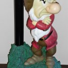 Grumpy GO AWAY Solar Light Base Garden Statue Snow White and the Seven Dwarfs Disney