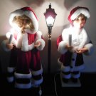 "Holiday Expressions 24"" Dickens Christmas Carolers Figures 37065 Musical Lighted Animated Lamp Post"