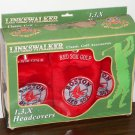 Boston Red Sox Golf Headcovers Set 1 3 X Head Club Covers Linkswalker MLB Baseball