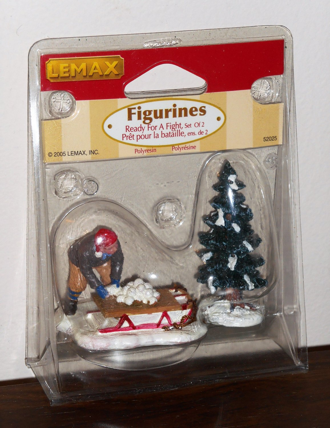 Lemax Christmas Village Accessory 52025 Ready For a Fight Polyresin Figurine 2005 NIP