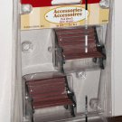 Lemax Christmas Village Accessories 34895 Park Bench Brown and Black Set of Two 2003 NIP