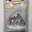 Lemax Christmas Village Collection Figurine 42878 Trash Bandits Raccoons 2004 NIB