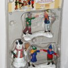 Lemax Christmas Village Accessory 52112 Ring Around the Snowman Polyresin Figurines 2005 NIP