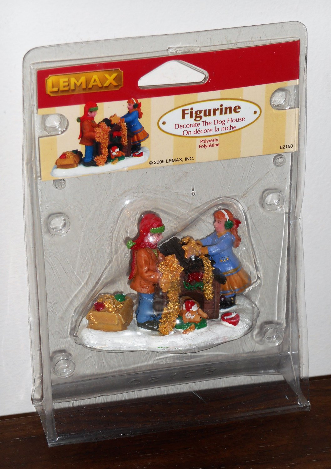 Lemax Christmas Village Accessory 52150 Decorate the Doghouse Polyresin Figurines 2005 NIP