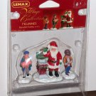 Lemax Christmas Village Accessory 52096 Donation Santa Claus Polyresin Figurines Set of 3 2005 NIP