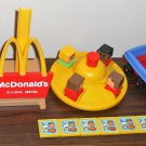 McDonald's Playskool Playset 430 Parts Lot Block Head People Merry Go Round Cars Trays Base
