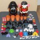 Mr Potato Head 75+ Parts Piece Lot Storage Heads Star Wars Darth Vader Pirate Eye Arm Shoe Nose Lips
