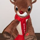 DanDee Singing Animated Rudolph the Red Nosed Reindeer 12 Inch Plush Toy Battery Operated