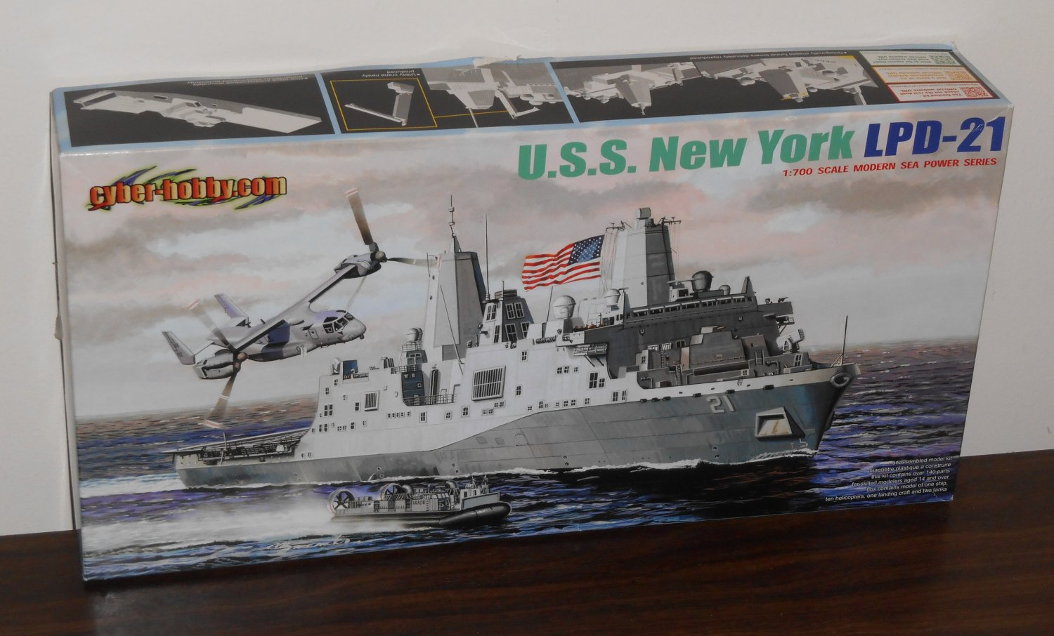 USS New York LPD-21 Ship Plastic Model Kit 7110 Dragon 1:700 Scale Modern Sea Power Series NIB
