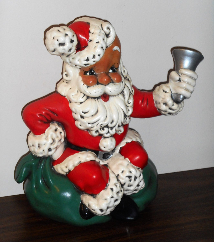 Atlantic Mold Santa Claus 10 Inch Ceramic Figurine Figure Toy Sack Bell