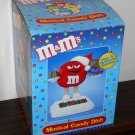 M&M's Red Animated Musical Candy Dish Plush Santa Figure Christmas Holiday Telco Battery Operated