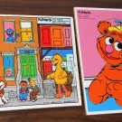 Sesame Street Muppets Frame Tray Puzzle Lot of 12 Wooden Playskool Bert Ernie Cookie Monster