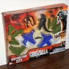 Godzilla Destruction City Playset Play Set Bandai Ban Dai 39515 39516 NIB