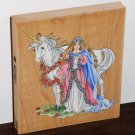 Unicorn & Maiden Large Rubber Stamp Stamper 90007 Fantasy Stamps Happen 5 x 5