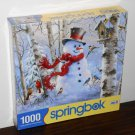 Winter Friends Snowman Birds 1000 Piece Jigsaw Puzzle Springbok 34-10752 NIB