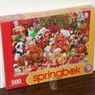 Holiday Playtime 500 Piece Springbok Jigsaw Puzzle Christmas 34-01489 NIB Factory Sealed