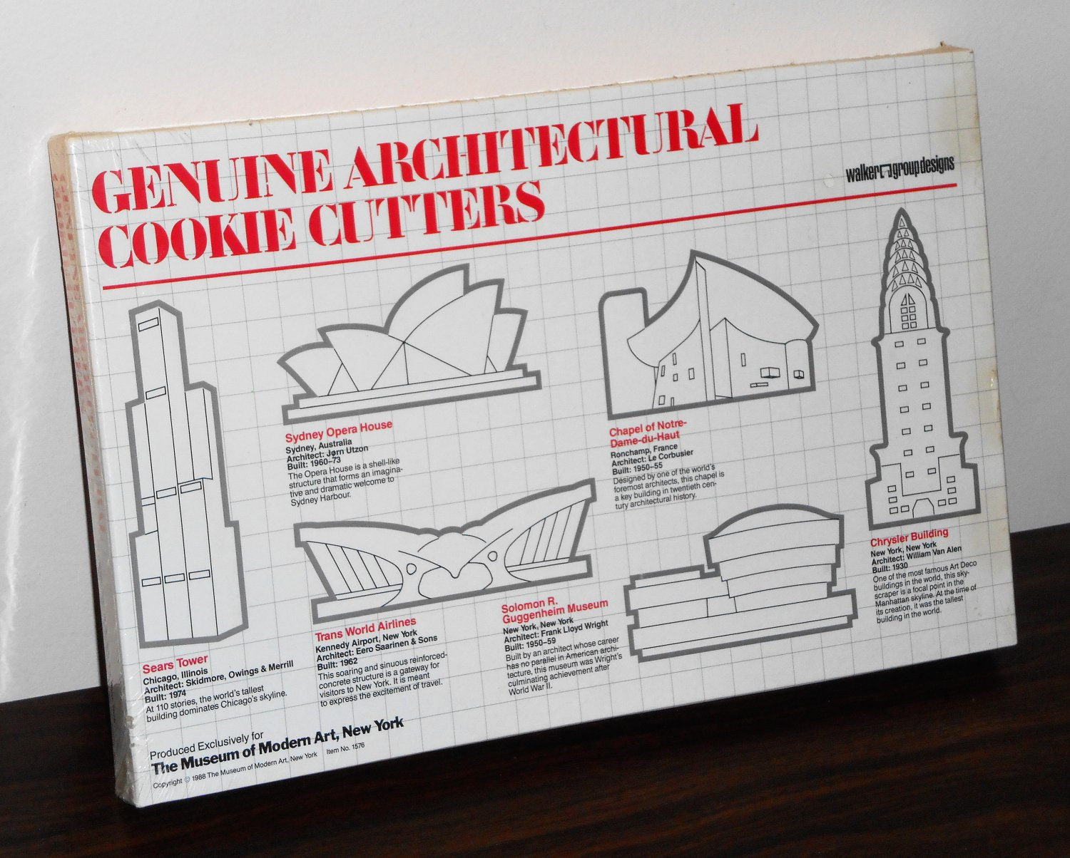Genuine Architectural Cookie Cutters Set of Six Item 1576 Museum of Modern Art 1988 New In Box NIB