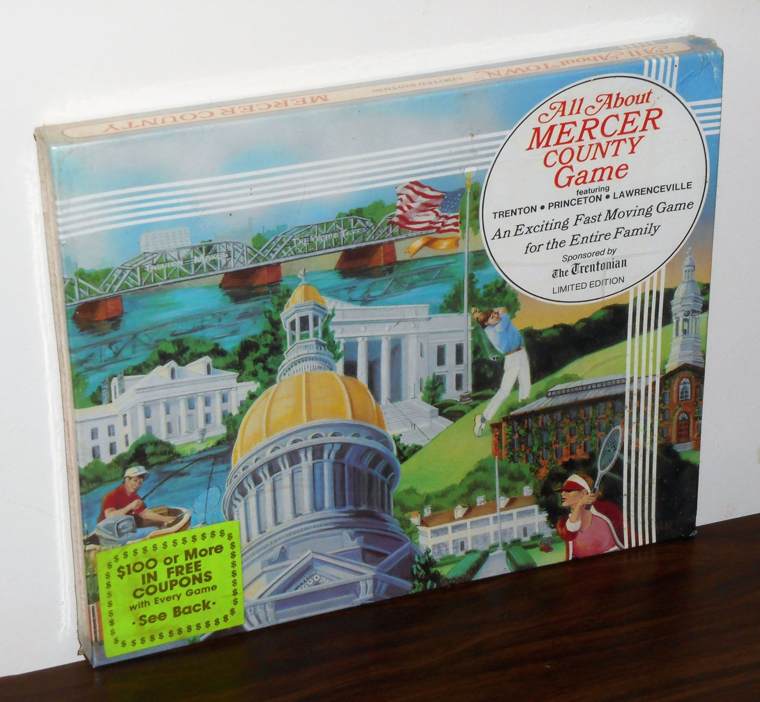 All About Mercer County Limited Edition Game New Jersey Trenton Princeton Lawrenceville 1982 NIB
