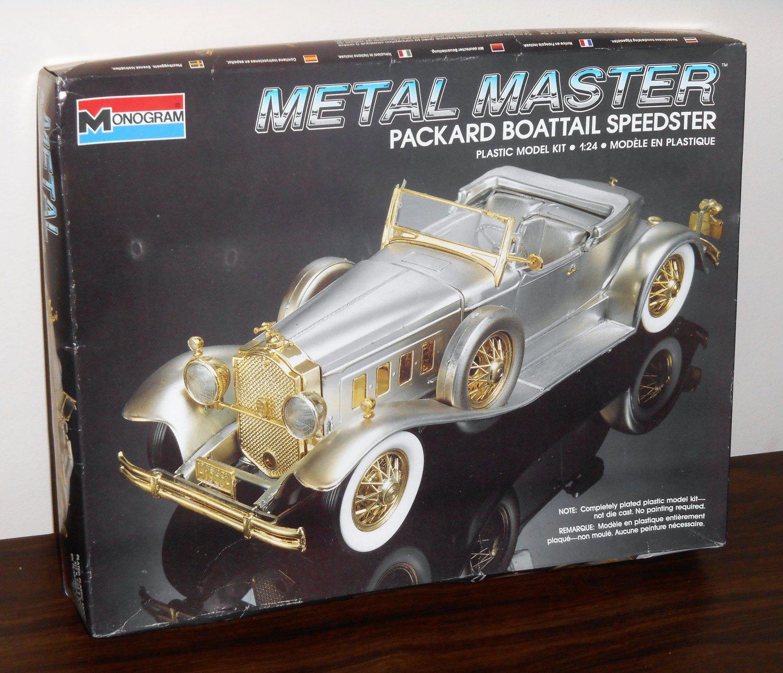 Metal Master Packard Boattail Speedster Model Kit 2311 Monogram Never Built 1988