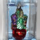 New York City Glass Ornament C4108 Kurt Adler Statue of Liberty Big Apple Noble Gems Scapes