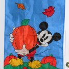 Mickey Mouse Decorative Garden Flag Fall Autumn Leaves Pumpkins Nylon NCE 1997 Walt Disney