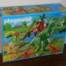 Playmobil T-Rex with Velociraptors 4171 Dinosaurs Adventure Geobra 2006 Complete with Box